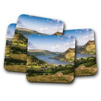 4 Set - Ullswater Lake District Coaster - Hiking Countryside Travel Gift #16358