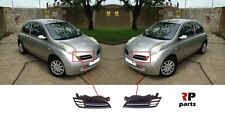 FOR NISSAN MICRA 2003 - 2005 NEW FRONT BUMPER UPPER LEFT GRILL PAIR CHROME TRIM