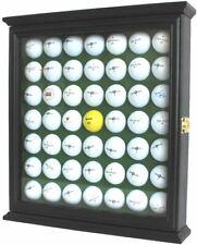 49 Golf Ball Display Case Rack Cabinet with Glass Door, LOCKABLE, GB249L-BLA