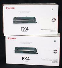 Lot of 2 Factory-Sealed Boxes Genuine OEM CANON FX4 Laserjet Cartridges 1558A002