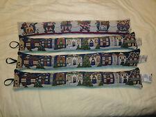 "Lot of 4 32"" Draft Blocker Christmas Decor Tapestry Village FA LA LA Door Window"