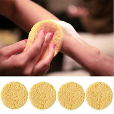 4X Natural Wood Fiber Face Wash Cleansing Round Sponge Beauty Makeup Tool Women