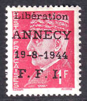 FRANCE 437 ANNECY LIBERATION OG NH VF BEAUTIFUL GUM