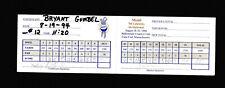 Bryant Gumbel 1994 Mobil Celebrity Invitational Signed Scorecard JSA