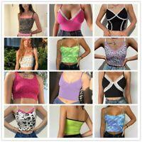 Summer tops for women Lace Tank Crop Neck Blouse T-shirt Summer Cami Sleeveless