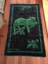 *NEW* *RARE* Auth Salvatore Ferragamo Beach Towel Blue & Green Leopard 64 x 38