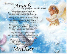 Personalised Mother Angels Poem Birthday Christmas Gift Present