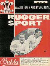 RUGGER SPORT - WELSH RUGBY MAG, JAN 1965, GLYNNEATH, LLANDAFF NORTH & WALES
