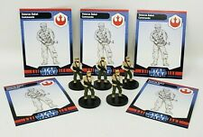 "Wizard Coast Star Wars Miniature Champions Lot of 5 Sandtrooper 1.5/"" RPG EUC"