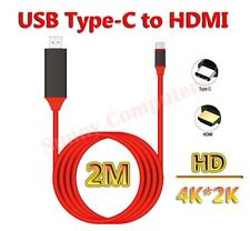 Type-C USB-C to HDMI HDTV TV Adapter Cable 4K For Sony Xperia 5 1 Cord Lead Wire