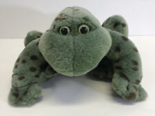 """Gund Sitting Bull Frog Spotted With Sound Croaking Rattle 9"""" Long Stuffed Animal"""
