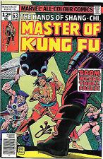 Master of Kung Fu #63 (Marvel 1978; vf 8.0) Jim Craig artwork