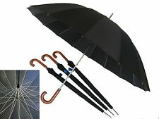 Jumbo Door Man umbrella, wind proof, Wood handle, Jumbo umbrella, Black umbrella