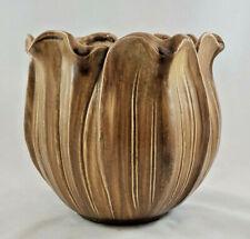 "Stangl  Brown Vase Planter USA # 2091 7"""