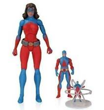 """DC Comics ATOMICA with Miny Ray Palmer Atom Action Figures  6"""" toy, boxed"""