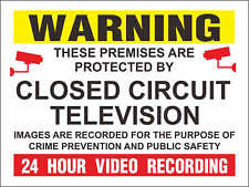 Sticker / Decal - Warning CCTV Closed Circuit Television 24 Hour20cmx15cm KP084