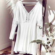 WINONA Eva Dress White size 10 Lace Detail Low Back $240 Stunning NEW WITH TAGS