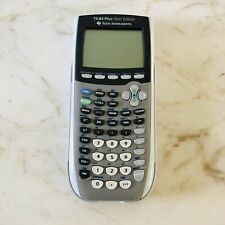 TEXAS INSTRUMENTS TI-84 Plus Silver Edition Graphing Calculator W/Cover Tested!