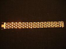Estate 18K Solid Yellow Gold Wide Fancy Link Heavy 8'' Bracelet 40 gr Mint Con