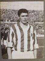 Fotografia Calcio - campione Juventus Bruno Mora databile 1961 ca