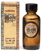 Massage Oil Meditation Range Blend of 12 Essential Oils Made in Australia 50ml