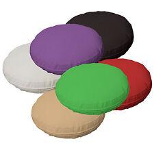 6 + Color Cuero Sintético Liso Ronda Suave Grueso Colchones cubierta Cojín tamaño personalizado