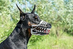 WHITE Werewolf Muzzle,Scary,ZOMBIE MUZZLE for dog,ALL BREED,funny dog accessory