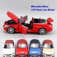 ORIGINAL MODEL 1:18 Mercedes-Benz C Klasse A205 Cabriolet Convertible,Gold Blue