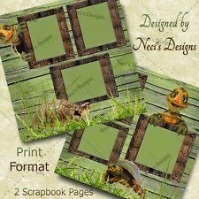 Turtle Themed Scrapbook Set – Box Turtles - Handcrafted Art