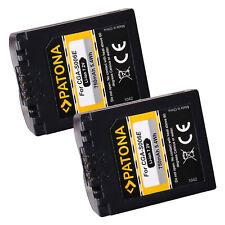 2x Batteria Patona 7,2V 750mAh per Panasonic Lumix DMC-FZ8K,DMC-FZ8S