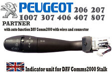 PEUGEOT 1007 206 207 307 406 407 807 Partner DAV COM2000 Indicator Switch Stalk