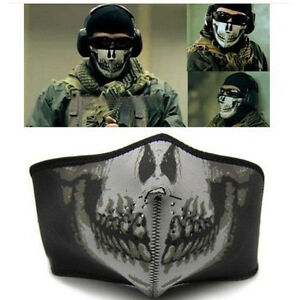 1/2x Skeleton Ghost Skull Face Mask for Halloween Cosplay Motorcycle Ski Bike