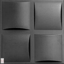 3D Wandpaneele Polystyrol Deckenpaneele Platten Paneele Pillow Schwarz XPS