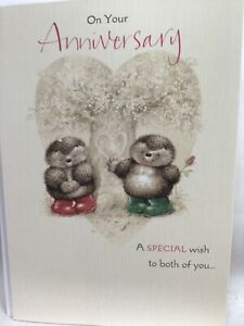 Lovely Hallmark Country Companions Anniversary Card with Hedgehogs