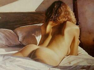 """Steve Hanks  """" Sunshine Across the Sheets """" Framed 162/999 W/CERT Mint"""