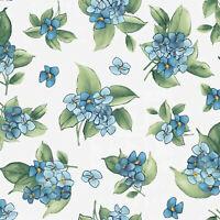 Maywood Watercolor Hydrangea Teal Blue Hydrangea Posy BTY MAS9339-B fabric