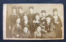 Victorian Carte De Visite CDV: Group Of Young Ladies: Stringfellows: Sheffield