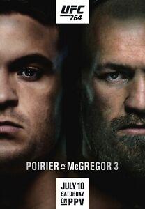 UFC 264 Poirier vs McGregor 3 poster Poster 11x17 16x24 24x36