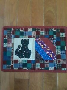 Quilt Cat Snack Mat / Table Topper