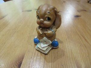 "Vintage Pendelfin ""Digit"" Bunny Rabbit Figurine/ Ornament with blue shoes"