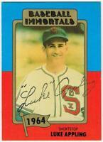 Original Autograph PSA/DNA of Luke Appling on a Baseball Immortals Card