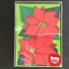 New Box 8 Museum of Modern Art Christmas Graphic Poinsettia Xmas Holiday Cards