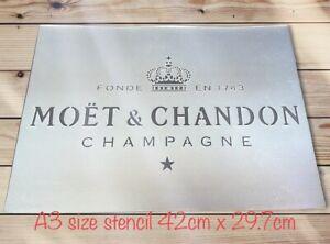 Champagne Stencil,french Champagne ,alcohol Crate Bar Pub Wall Furniture Decor