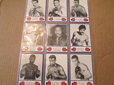1985 Brown's Boxing Cards SERIES I  (CARDS 1 THRU 35)
