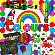 Colours topic resource CD - EYFS/ KS1 EYFS, childminder- PLUS Elmer's Colours