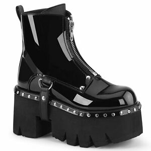 ASHES-100  Black Patent-Vegan Leather