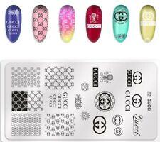 Designer nail art stamping plate (ZZ GC)