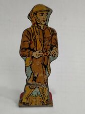 Vintage 1930s MAR - MARX Lithograph Tin Soldier Infantry Private # 5 points