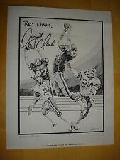 Dwight Clark Autograph SF 49ers The Catch Lithograph #94 of 949 William Burita