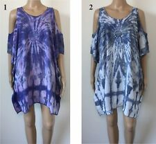 LADIES casual Tie Dye Top Dress Open Sleeve OSFA Plus Larger Size 20 22 24 26